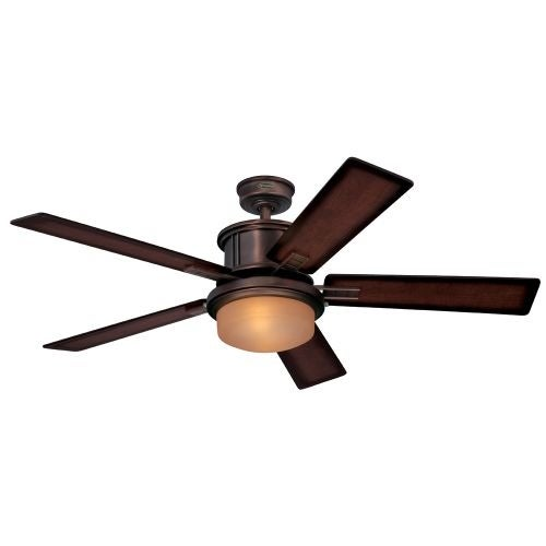 "Westinghouse 7201400 Goodwin 52"" 5 Blade Hanging Indoor Ceiling Fan with Reversible Motor, Blades, Light Kit, and Down Rod"