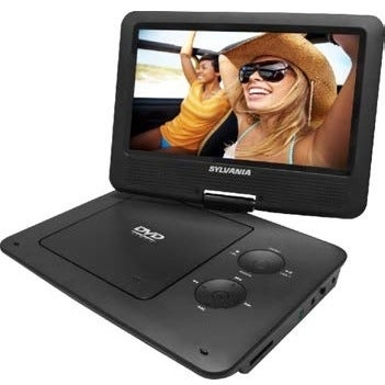 "Sylvania SDVD9020B-BLACK Sylvania SDVD9020B Portable DVD Player - 9"" Display - 640 x 234 - Black - DVD+RW, DVD-RW, CD-RW -"