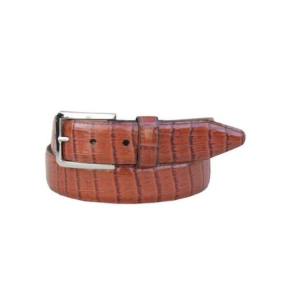 Lejon Western Belt Mens Lexington Leather Cognac