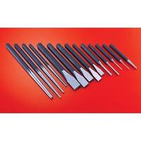 Powerbuilt 14 Piece Punch and Chisel Set, Pin Punch, Center Punch, Cold Punch