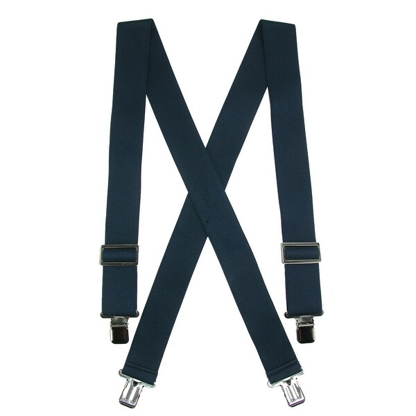 CTM® Men's Elastic Heavy Duty Basic Clip-End Work Suspender