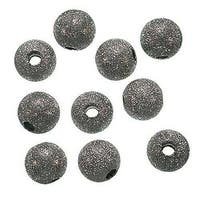 Gunmetal Plated Stardust Sparkle Round Beads 10mm (20)