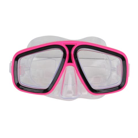"""6.25"""" Pink and Clear Laguna Recreational Swim Mask With Adjustable Strap"""
