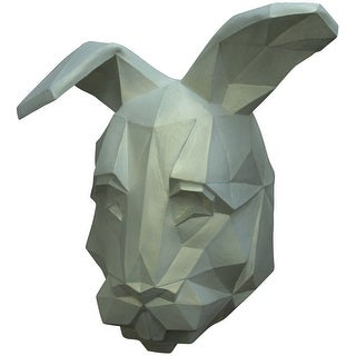 Adult White Low Poly Bunny Halloween Mask