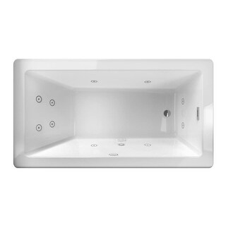"""Jacuzzi BIF6636WUR2CP Bianca 66"""" Freestanding Whirlpool Bathtub with Reversible Drain and Chromatherapy"""