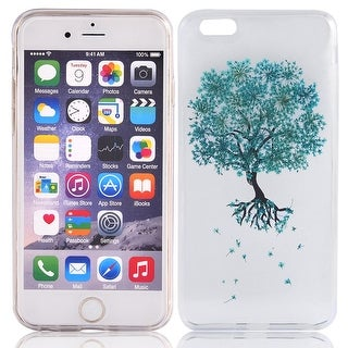 Silicone Tree Pattern Phone Case Protective Shell Blue for iphone 6 Plus