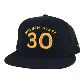 Golden State Stephen Curry #30 Snapback Hat Cap - Black Gold