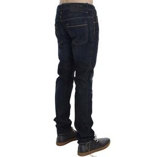 ACHT Blue Wash Cotton Denim Slim Fit Jeans - w34