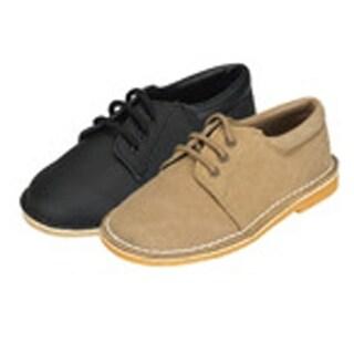 Khaki Faux Suede Boys Dress Shoes Size 5-2
