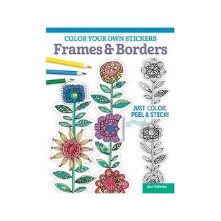 Design Originals Color Your/Sticker Frame&Brdr Bk