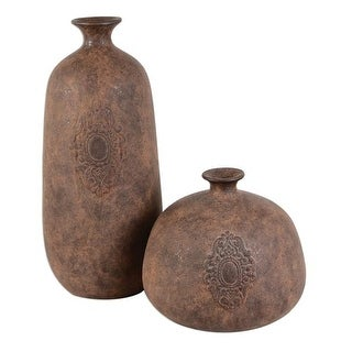 Uttermost 20105 Frederico Rustic Vases, Set of 2