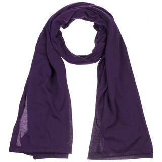Women's Jersey scarves fashion long plain scarf wrap shawls hijab (Option: Purple)