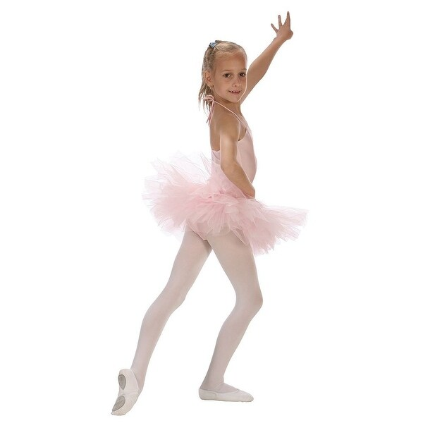 Sansha Pink 5 Layer Tulle Dance Tutu Ballet Skirt Little Girls 2T-14