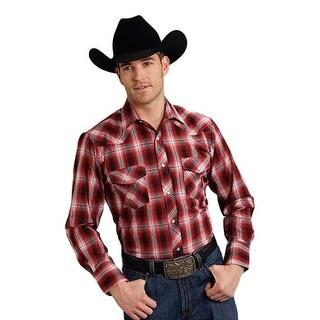 Roper Western Shirt Mens L/S Plaid Snap Red 01-001-0171-0717 RE