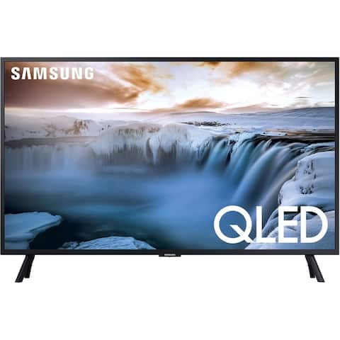 """Samsung Class Q50R 4K (3840x2160) 32"""" Smart QLED HDR TV,Black (New Open Box) - Black - 28.5 x 16.6 x 1.2 Inches (Without Stand)"""