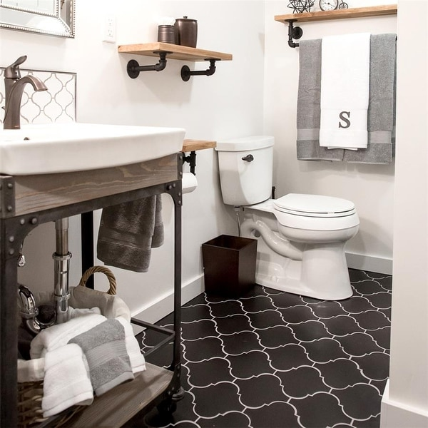 """SomerTile Provenzale Lantern Black 8"""" x 8"""" Porcelain Floor and Wall Tile. Opens flyout."""