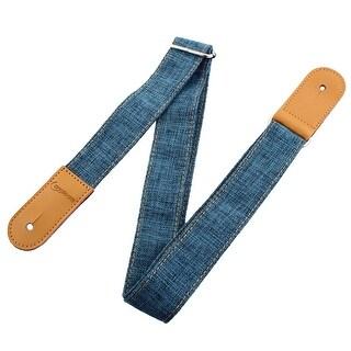 Faux Leather End Adjustable Acoustic Electric Ukulele Shoulder Strap Belt Blue