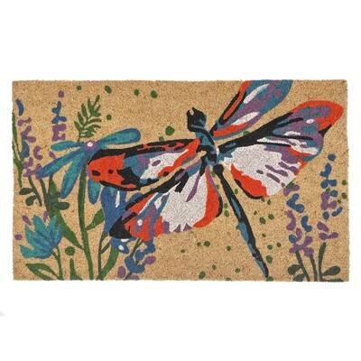 Coir Door Mat (Dragonfly) - Big