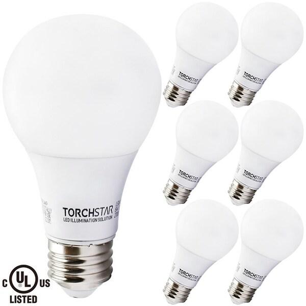 6 PACK 6W UL-listed A19 LED Bulb, 40W Equivalent, 2700K Soft White/5000K Daylight, E26 Medium Base, 470lm for General Lighting