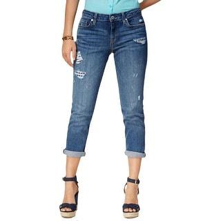 Tommy Hilfiger Womens Boyfriend Jeans Denim Destroyed