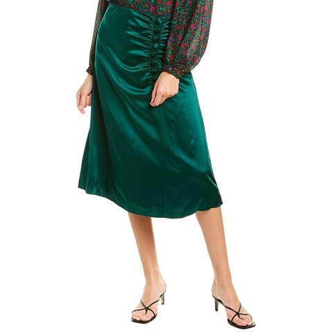 Veronica Beard Minetta Silk Midi Skirt