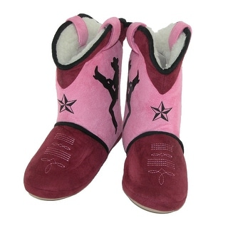 Cicciabella Women's Dixie Darlin Cowgirl Boot Slippers - Pink