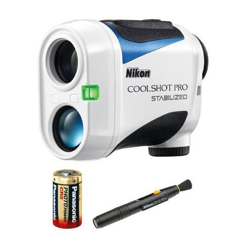 "Nikon 6x21 CoolShot Pro Stabilized Laser Rangefinder w/Lens Pen Bundle - 3.8"" x 1.7"" x 2.9"""