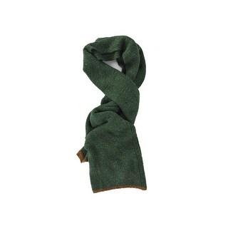 Altea Green Wool Warm Knitted Scarf