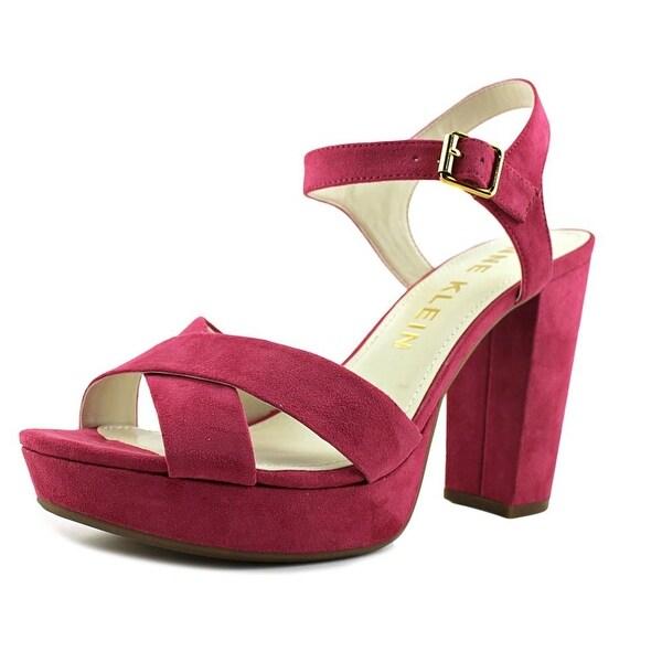 d8997cd22926 Shop Anne Klein Lalima Women Open Toe Synthetic Pink Platform Heel ...