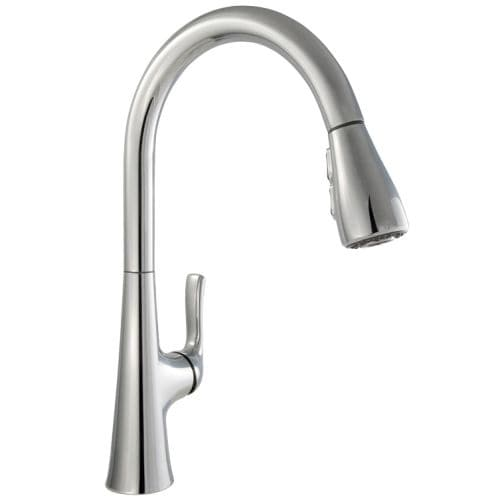 Miseno MK601 Rimini Pull-Down Multi-Flow Spray Kitchen Faucet - Includes Lifetime Warranty and Decorative Deck Plate