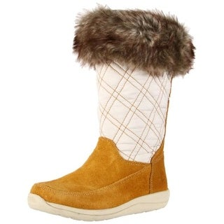 Timberland Girls Maple Candy Faux Fur Lined Suede Snow Boots