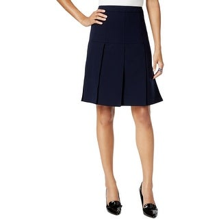 Tommy Hilfiger Womens A-Line Skirt Drop-Pleat Above Knee
