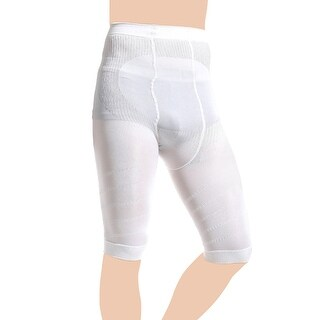 Men White Stretchy Belly Tummy Control Shaping Skinny Slimming Tight Short Pants