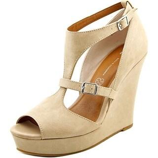 BC Footwear Lionness Women Open Toe Synthetic Nude Sandals