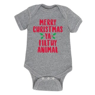 Merry Christmas Ya Filthy Animal - Infant One Piece