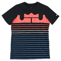 Nike Boys LeBron Toys KSA T Shirt Black - black/crimson/blue