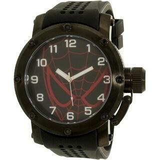 Disney Men's Spider-Man SPM147 Black Silicone Quartz Fashion Watch