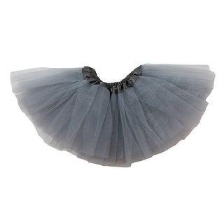 Baby Girls Gray Satin Elastic Waist Ballet Tutu Skirt 0-12M