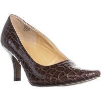 KS35 Clancy Classic Pointed Toe Pump Heels, Chocolate Brown - 9 us