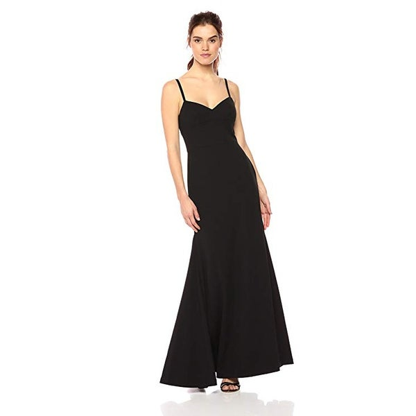 Vera Wang Spaghetti Strap Sweetheart Neck with Cutout Back