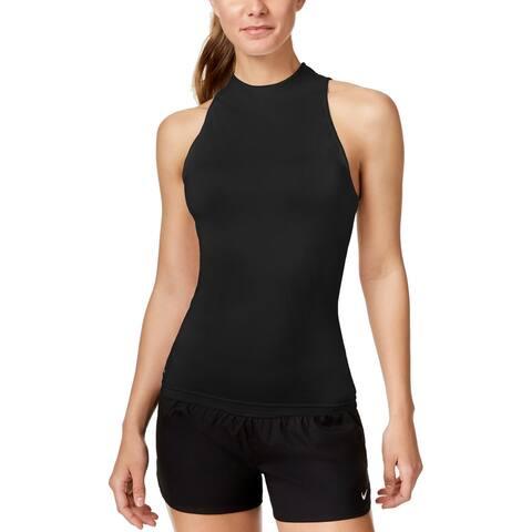 Nike Women's Sleeveless Rash Guard Women's Swimsuit, (Black XS)