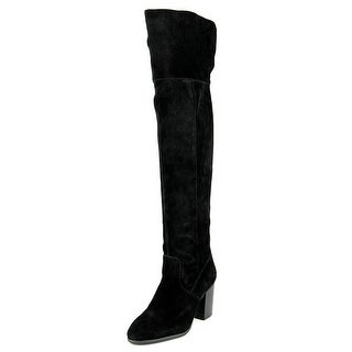 Jessica Simpson Ebyy Women Round Toe Suede Black Over the Knee Boot