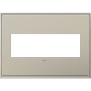 Legrand AWC3GAN4 adorne 3 Gang Metal Wall Plate - 6.56 Inches Wide