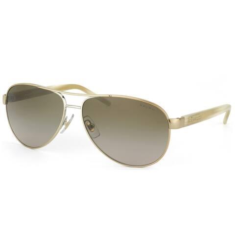 Ralph by Ralph Lauren RA 4004 101/13 Unisex Gold Frame Brown Gradient Lens Sunglasses