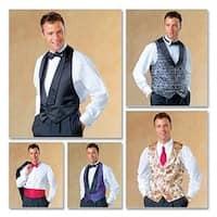 Z (Xlg-Xxl) - Men's Lined Vests; Bow Tie And Cummerbund