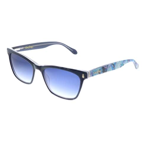 Lilly Pulitzer LP Lucca NV Womens Navy Frame Blue Gradient Lens Sunglasses