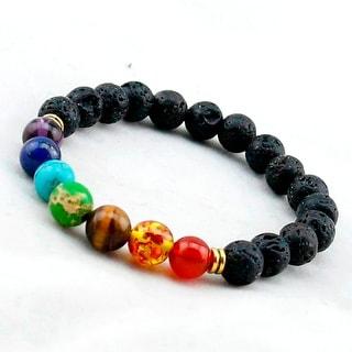 Link to Black Lava Natural Stone 7 Reiki Chakra Beads Bracelet Similar Items in Aromatherapy & Massage