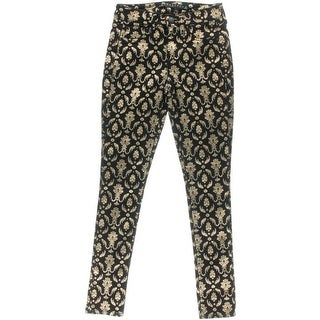 Tinseltown Womens Juniors Skinny Pants Pattern Shimmer