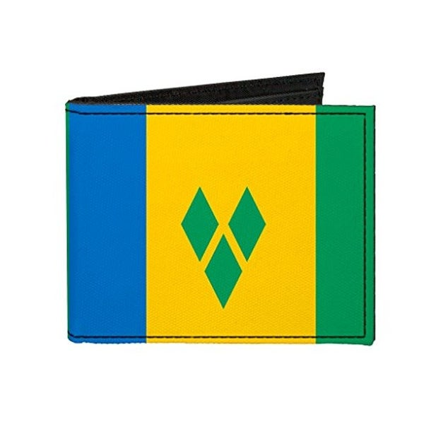 Buckle-Down Canvas Bi-fold Wallet - Saint Vincent and The Grenadines Fla Accessory
