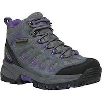 Propet Women's Ridge Walker Hiking Boot Grey Purple Suede/Mesh